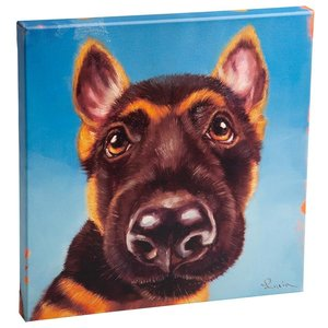 Follow Your Nose, No. 1 German Shepherd Dog Canvas Wrap Replica Painting: Small