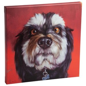 Follow Your Nose, No. 11 Schnauzer Dog Canvas Wrap Replica Painting: Large