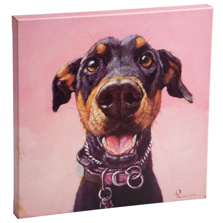 View larger image of Follow Your Nose, No. 12 Miniature Doberman Pincher Dog Canvas Wrap Replica Painting: Small