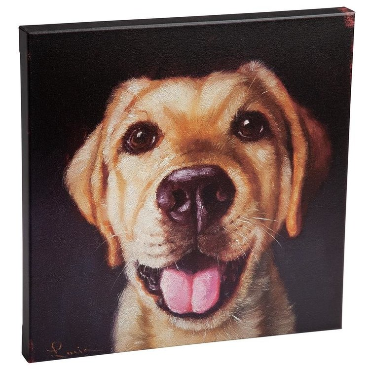 View larger image of Follow Your Nose, No. 13 Yellow Labrador Dog Canvas Wrap Replica Painting