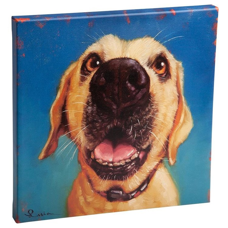 View larger image of Follow Your Nose, No. 2 Yellow Labrador Dog Canvas Wrap Replica Painting: Small