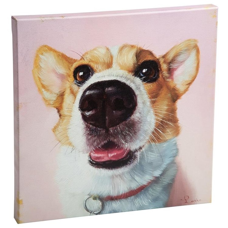 View larger image of Follow Your Nose, No. 3 Welsh Corgi Dog Canvas Wrap Replica Painting