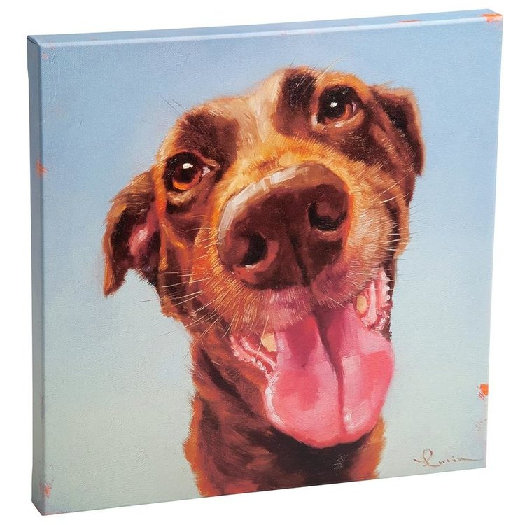 View larger image of Follow Your Nose, No. 5 Chocolate Labrador Dog Canvas Wrap Replica Painting