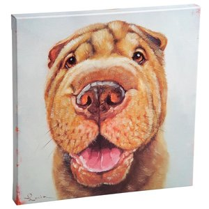 Follow Your Nose, No. 6 Shar Pei Dog Canvas Wrap Replica Painting: Large