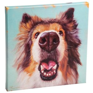 Follow Your Nose, No. 9 Collie Dog Canvas Wrap Replica Painting: Large