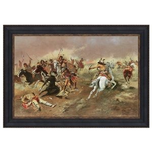For Supremacy, 1895: Canvas Replica Painting: Small