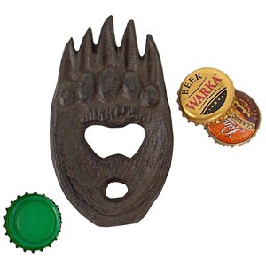 Forest Bear Grizzly Paw Cast Iron Bottle Opener
