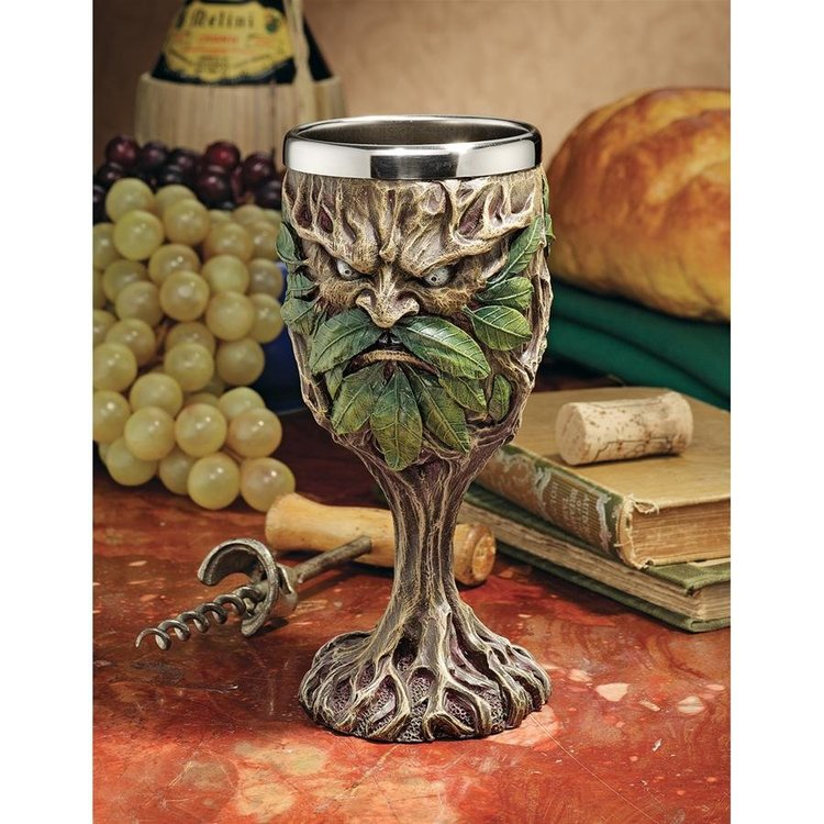 View larger image of Forest Spirits Greenman Goblet Collection: Grendal the Green