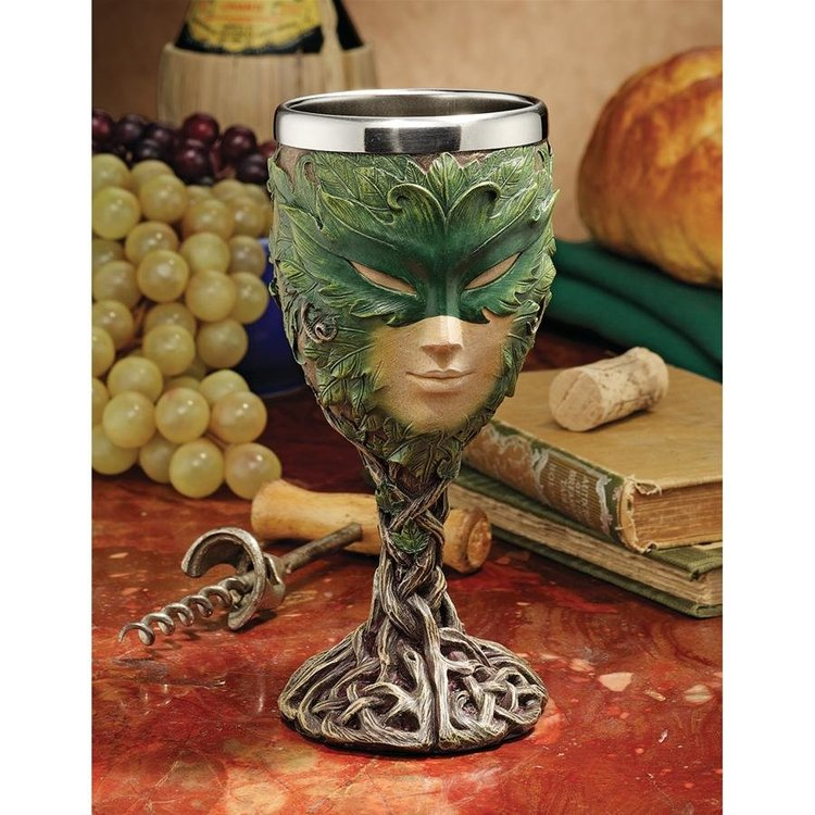 View larger image of Forest Spirits Greenman Goblet Collection: Lady of the Leaf