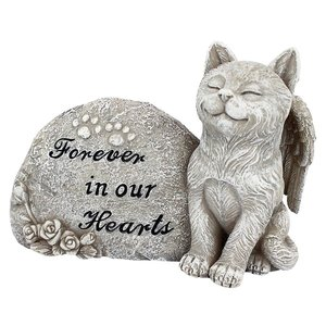 Forever in Our Hearts Memorial Cat Statue