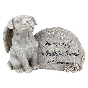 Forever in Our Hearts Memorial Dog Statue