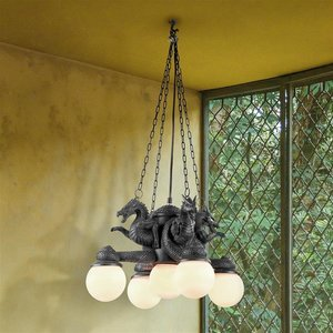 Four Dragons of the Cardinal Directions Hanging Chandelier