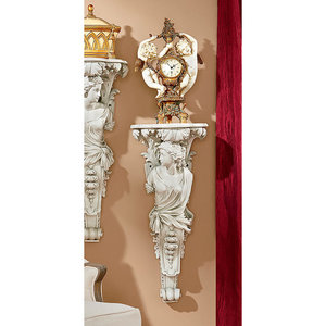 French Baroque Caryatid Facing Left Wall Sculpture
