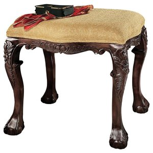 French Baroque Honey Upholstered Benches