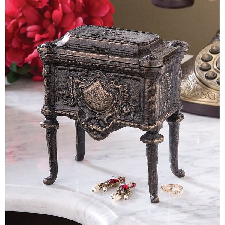 View larger image of French Empire Authentic Foundry Cast Iron Box