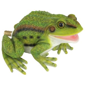 Friendly Frog Piped Toad Spitter Statue