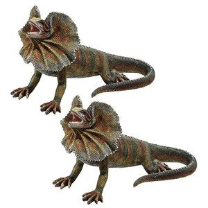 Frill-Necked Lizard Statues: Set of Two