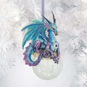 Frost the Gothic Dragon Holiday Ornament