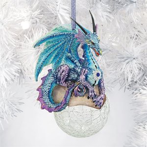 Frost Gothic Dragon Holiday Ornament