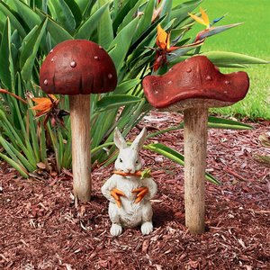 Garden Gnome Wild Mushroom Stake Collection: Complete Set