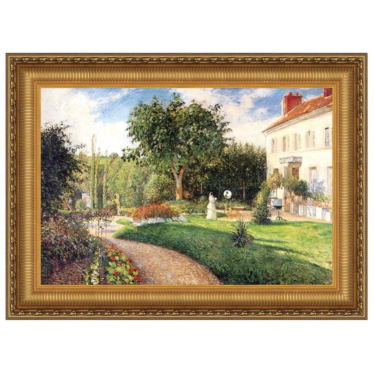 View larger image of Garden of Les Mathurins at Pontoise, 1876: Canvas Replica Painting
