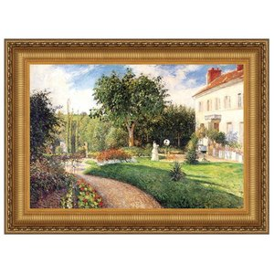 Garden of Les Mathurins at Pontoise, 1876: Canvas Replica Painting: Grande