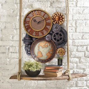 Gears of Time Sculptural Wall Clock: Large
