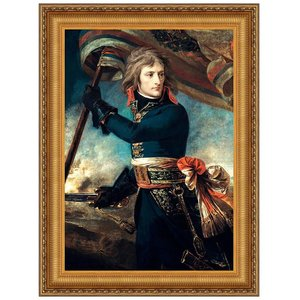 General Bonaparte on the Bridge at Arcole 17th November 1796: Canvas Replica Painting: Large