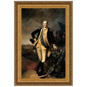 George Washington at the Battle of Princeton, 1781 Canvas Replica Painting: Large