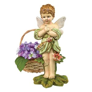 Gertie the English Flower Fairy Statues