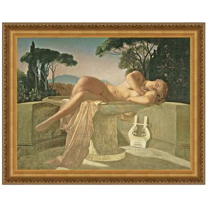 Girl in a Basin, 1845: Canvas Replica Painting: Small