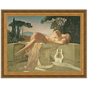Girl in a Basin, 1845: Canvas Replica Painting: Large