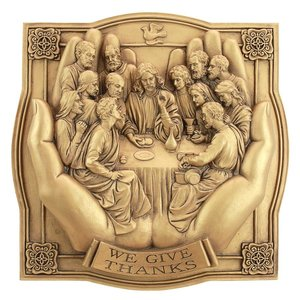 Giving Thanks Lord s Supper Wall Sculpture