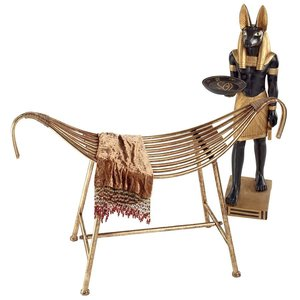 God of the Nile Egyptian-Style Metal Bench