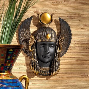 Goddess Isis, Protector of the Egyptian Kingdom Wall Sculpture