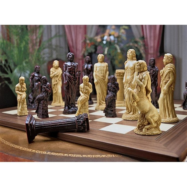 View larger image of Gods of Greek Mythology Chess Set: Includes Chess Pieces & Board