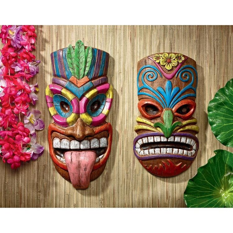View larger image of Gods of the Hawaiian Isle Tiki Wall Plaques