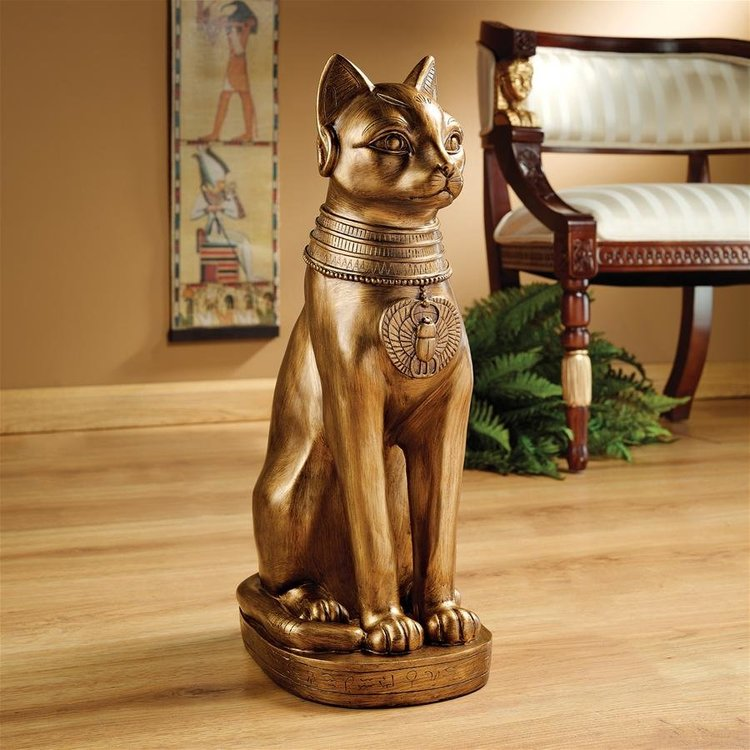 View larger image of Golden Bastet of Ancient Egypt Statue