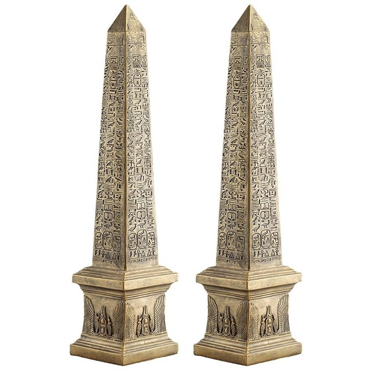 View larger image of Golden Obelisk of Ancient Egypt Statue: Set of Two
