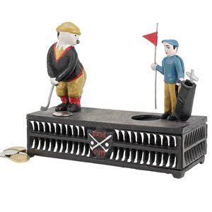The Golfer: This Putt is for a Birdie Collectors' Die-Cast Iron Mechanical Coin Bank