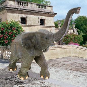 Good Luck Trunk Up Baby Elephant Statue