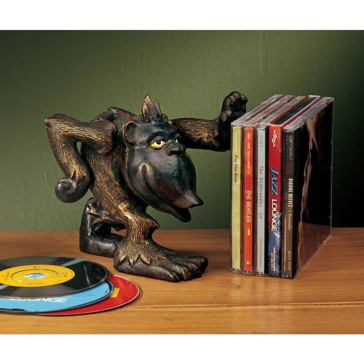 View larger image of Gordie the Gorilla Helping Hand Cast Iron Monkey Statue: Set of Two