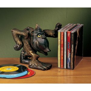 Gordie the Gorilla Helping Hand Cast Iron Monkey Statue: Set of Two