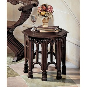 Gothic Revival Octagonal Side Table