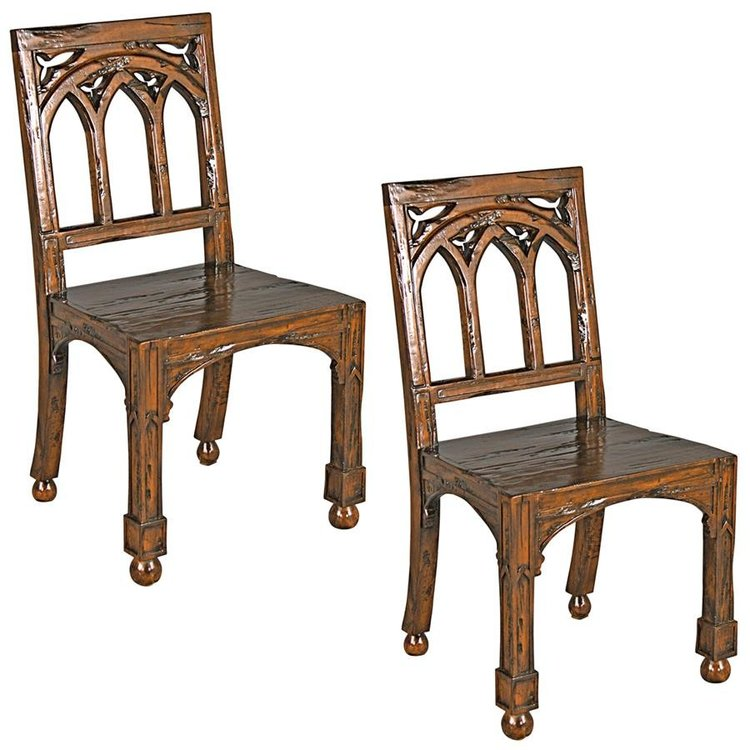 View larger image of Gothic Revival Rectory Chairs Set of Two