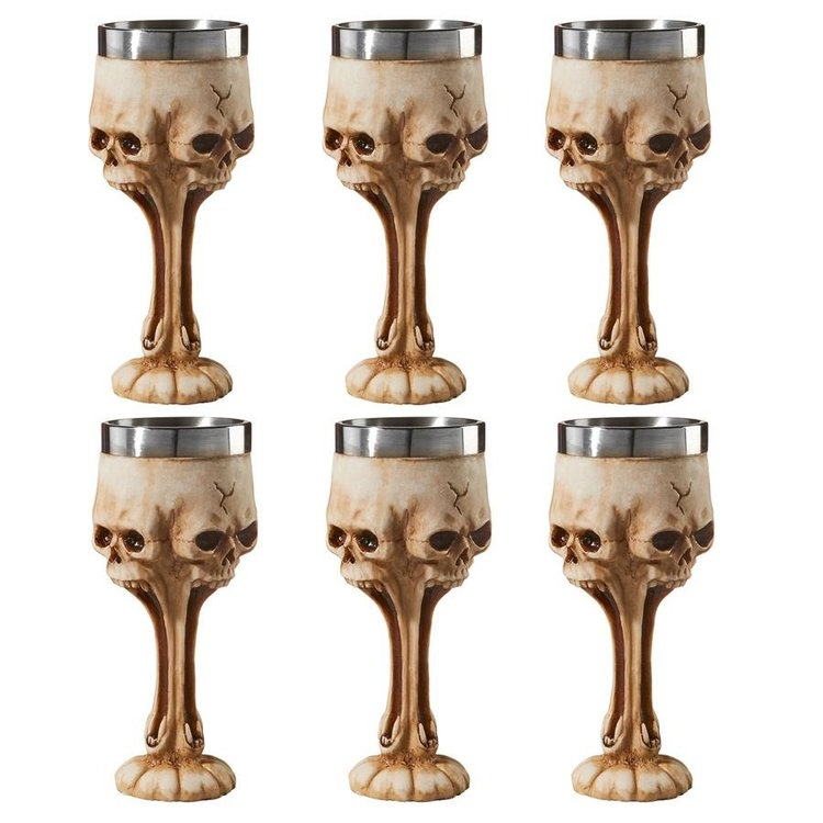 View larger image of Gothic Scare Skull Goblets: Set of 6