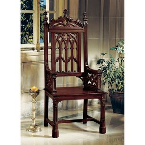 Gothic Tracery Cathedral Chair