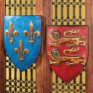 Grand Arms of France Wall Shield Collection- Set of Two
