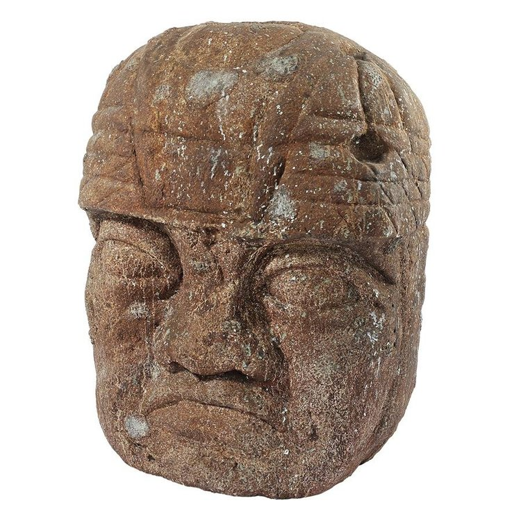 View larger image of Grand Megalithic Olmec Head Statue
