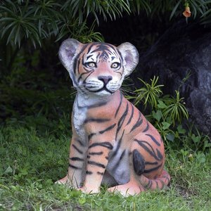 The Grand-Scale Sitting Bengal Tiger Cub Statue